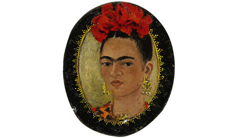 Miniature self-portrait by Frida Kahlo