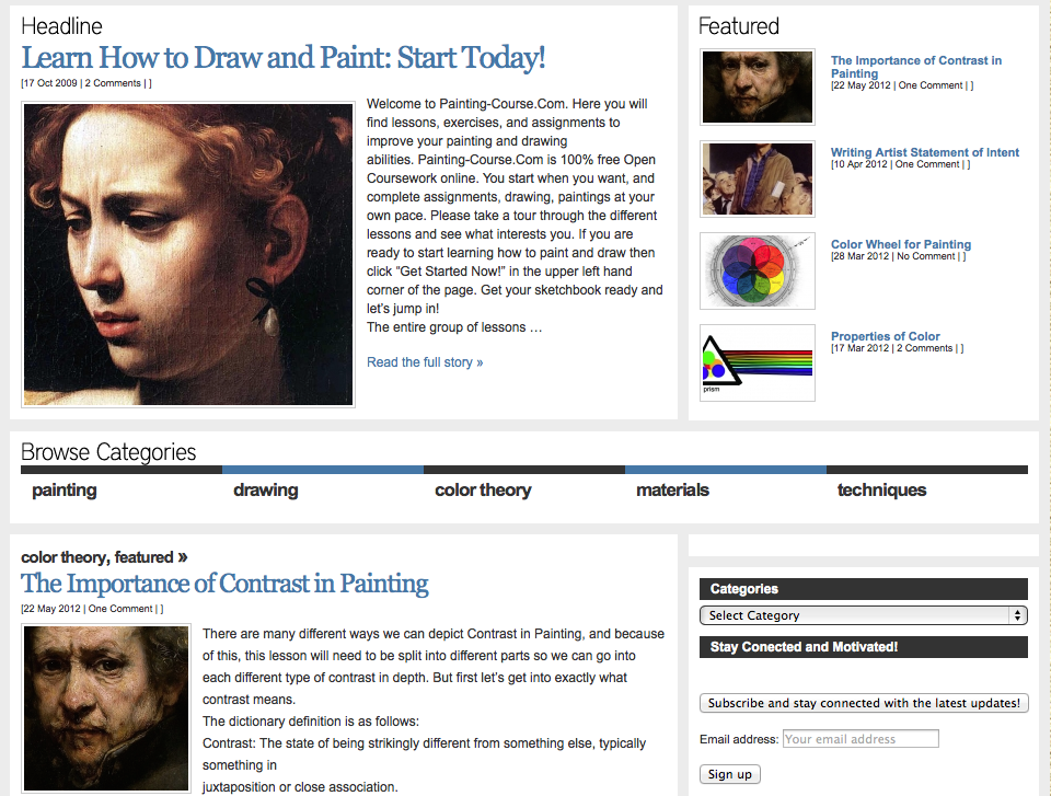 art self-study website