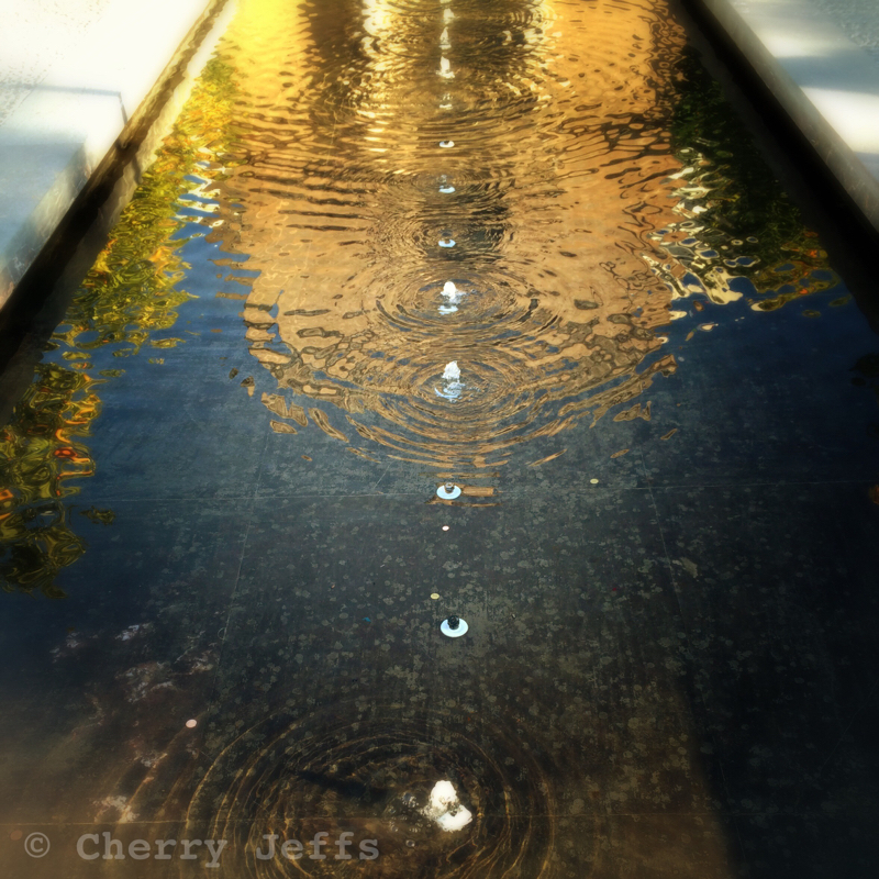 reflection in fountain - Andalusia, Spain. © Cherry Jeffs 2014