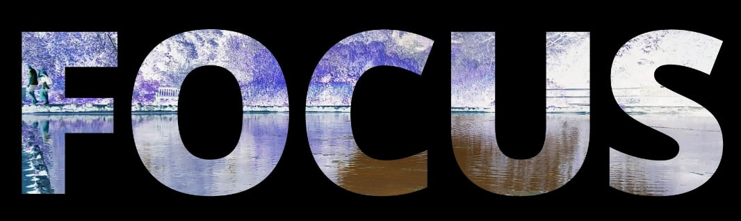FOCUS - Letters filled with chilly lake scene