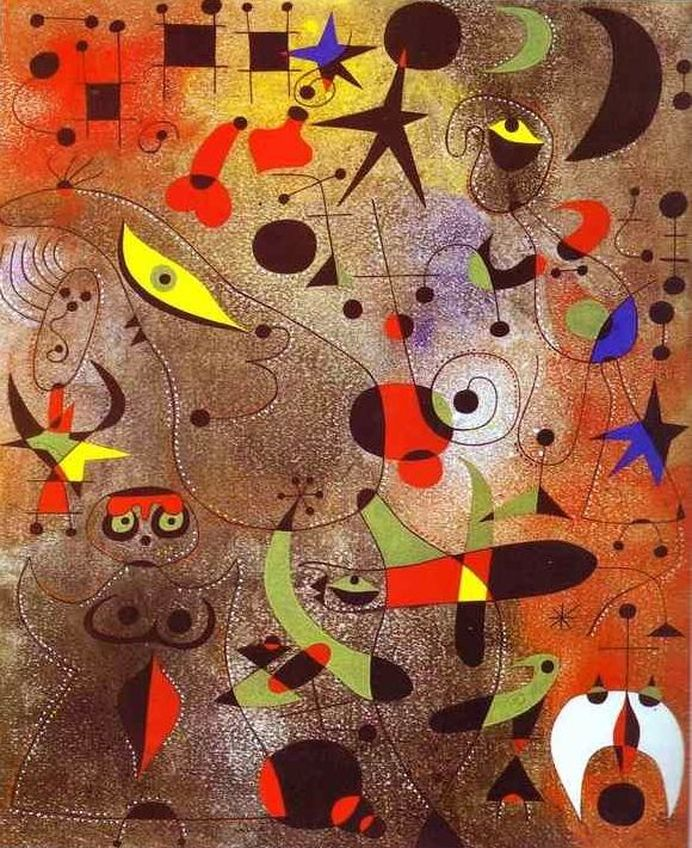 Constellation: Awakening at Dawn - Joan Miró painting