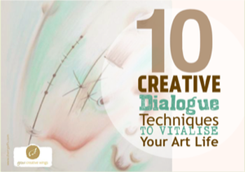 Cover image of eBook: 10 Creative Dialogue Techniques to Vitalise Your Art Life by Cherry Jeffs