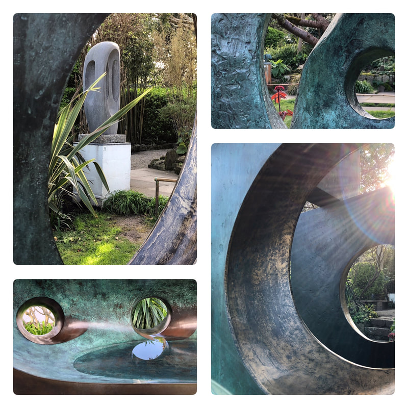 Details of bronze sculptures in Hepworth Sculpture Garden, St Ives. Photos © Cherry Jeffs & Paul Read 2019
