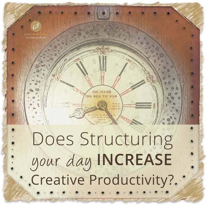 Illustration of clock face + text: Does Structuring Your Day Increase Creative Productivity?