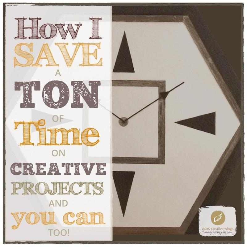 Photo of paper hexagonal paper clock, overlaid with text
